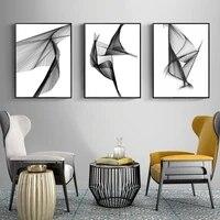 WTQ     toile de peinture sur toile noire et blanche  ligne geometrique abstraite  decoration murale imprimee  tableau dart mural pour decoration de maison