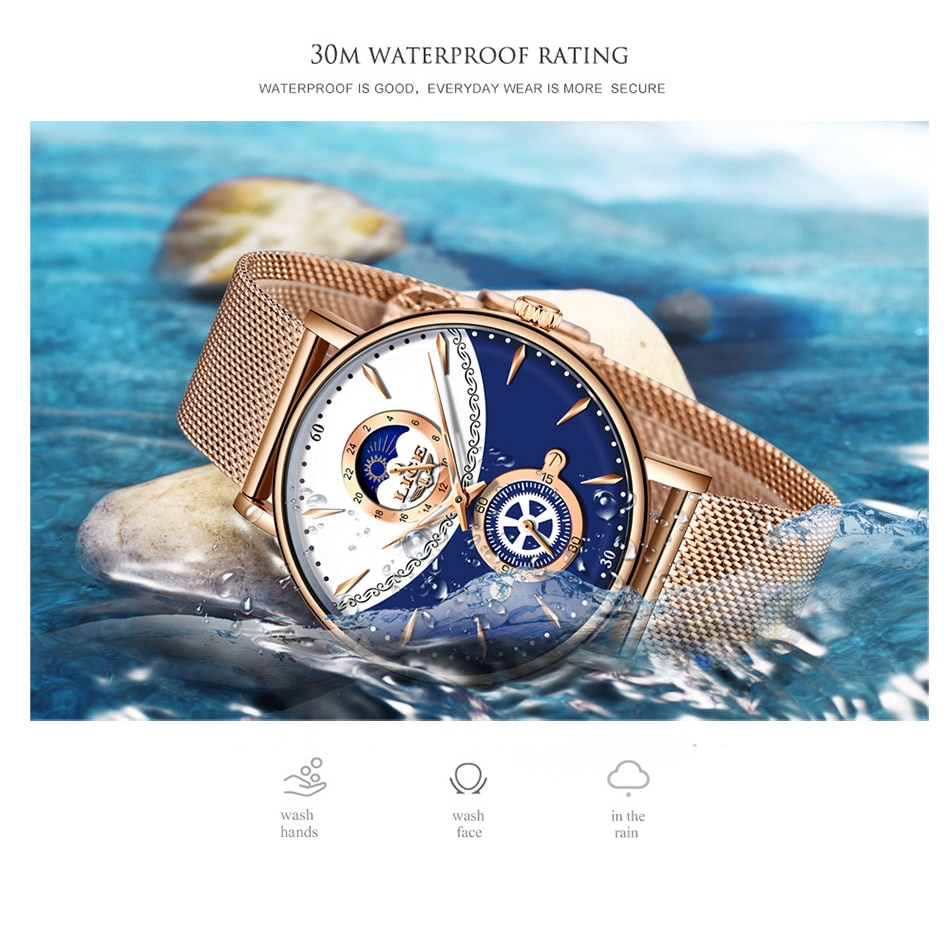 LIGE NEW Women Watches Top Brand Luxury Watches For Women Waterproof Wrist Watch Quartz Gift Clocks reloj mujer relogio feminino enlarge
