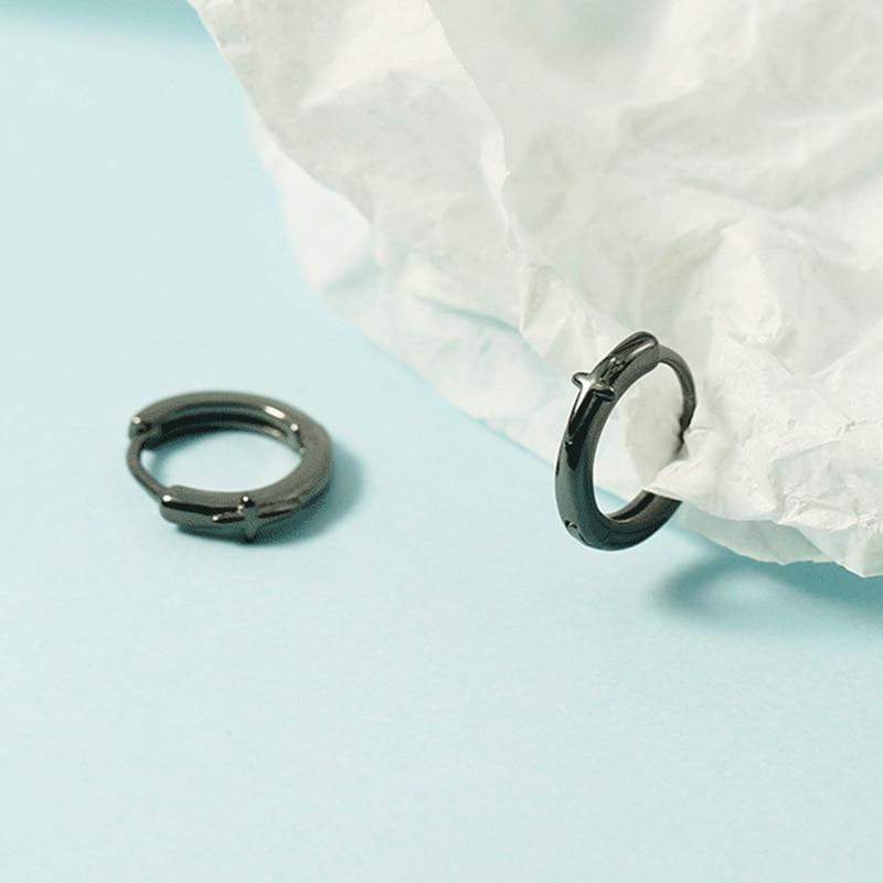 Серьги-кольца-унисекс-с-крестом-серебро-925-пробы