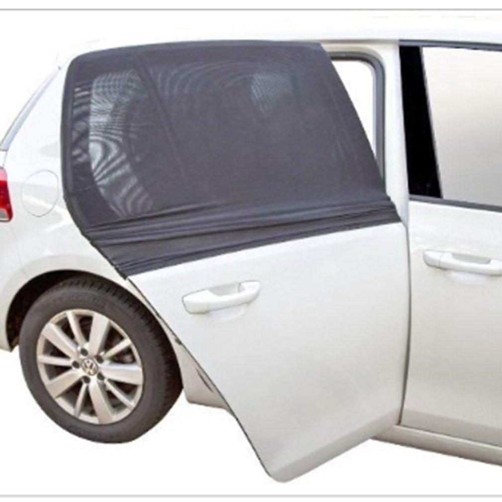 1 par de cortina lateral de gasa negra para coche parasol protector solar de verano parasol para mosquitos