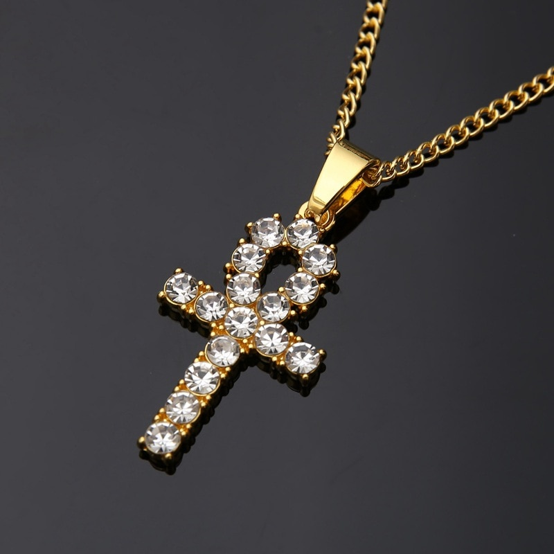Venta directa del fabricante del mismo colgante de llave de Anhe egipcio collar de Hip Hop Hiphop productos de comercio electrónico de la frontera joyería