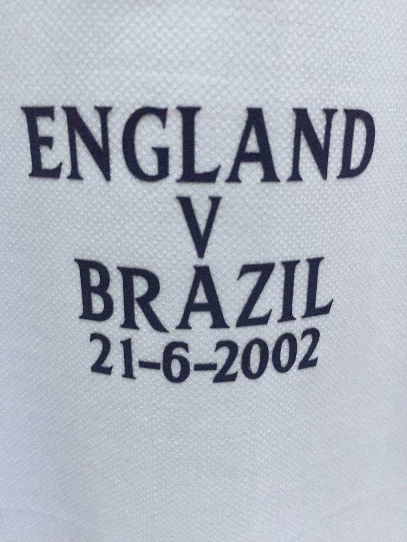 2002 detalles del partido de Inglaterra VS Brasil Inglaterra Vs Suecia Inglaterra Vs Argentina parche de fútbol insignia