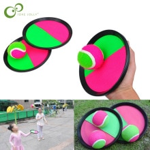 1Set Kids Sucker Kleverige Bal Speelgoed Buitensporten Vangst Bal Game Set Gooien En Vangen Ouder-kind Interactieve outdoor Speelgoed ZXH