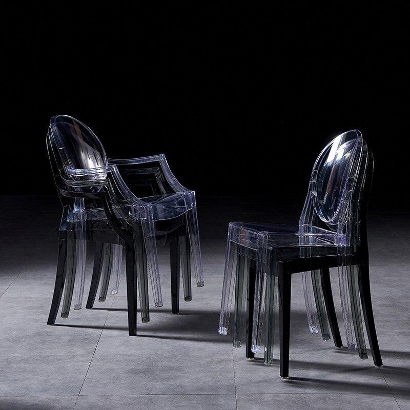 الشمال الطعام كرسي البلاستيك الشفاف كرسي مسند الظهر الطعام الكراسي ماكياج الإبداعية الاكريليك كرسي كرسي أثاث المطبخ