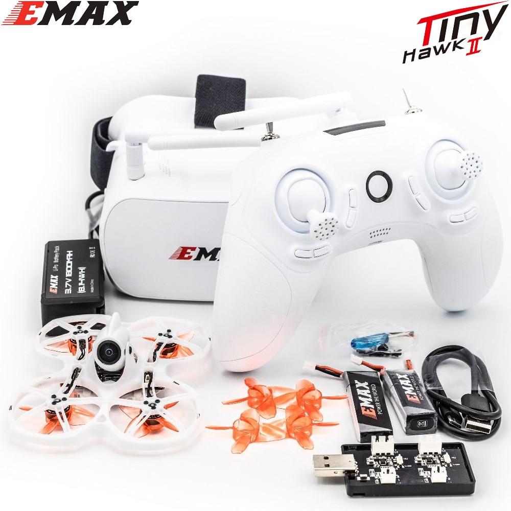 EMAX Tinyhawk II 75mm 1-2S Whoop FPV yarış Drone RTF / BNF FrSky D8 Runcam Nano2 cam 25/100/200mw VTX 5A Blheli_S ESC
