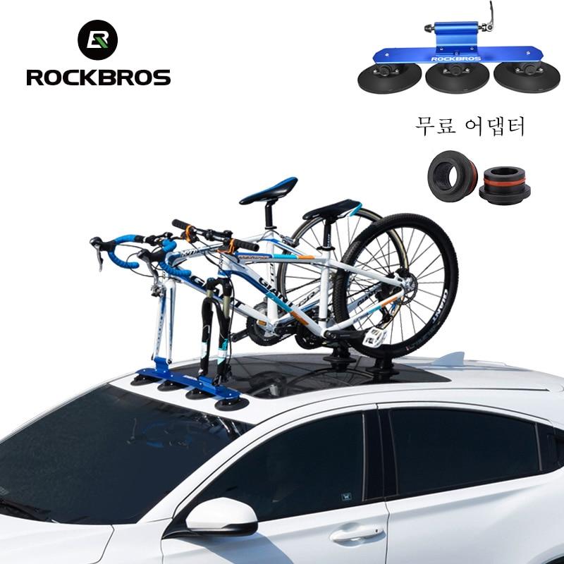 ROCKBROS Bike Bicycle Carrier Bike Car Racks Suction Cups Roof-Top Trunk Bike Roof Holder Quick MTB Mountain Road Bike Accessory