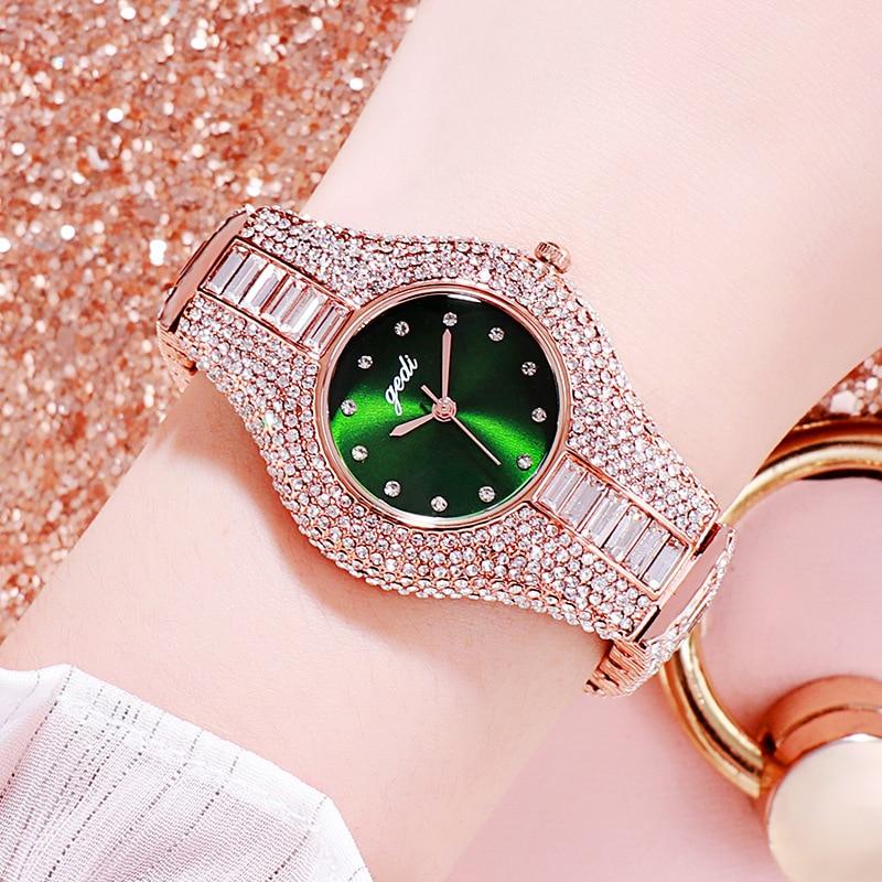 Women Watches 2020 New Diamond Stainless Steel Quartz Wristwatch High-End Fashion Waterproof Simple Watch Women Luxury Reloj enlarge