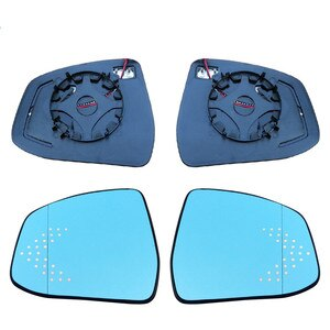 Rear View Blue Mirror for Ford Focus 2018 Led dynamic Turn Signal Heating double curve surface anti-glare bigger view