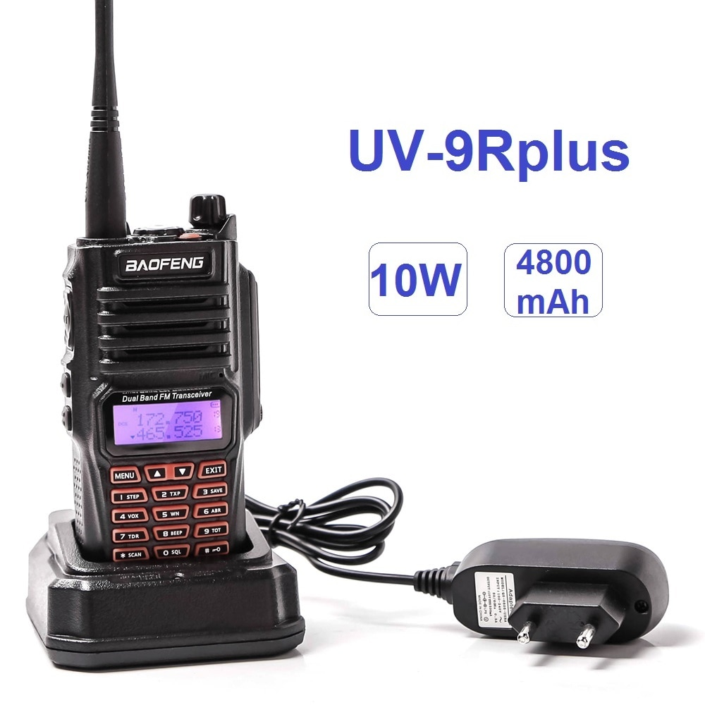 Baofeng UV-9R PLUS Waterproof Powerful Walkie Talkie 10W Two Way CB Radio Station VHF UHF Scanner Radio Ham Transceiver Outdoor