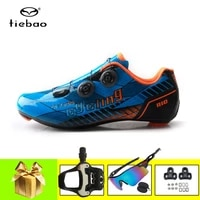 tiebao road bike cycling shoes carbon sole ultra light self breathable athletic outdoor zapatillas ciclismo racing bicyle shoes