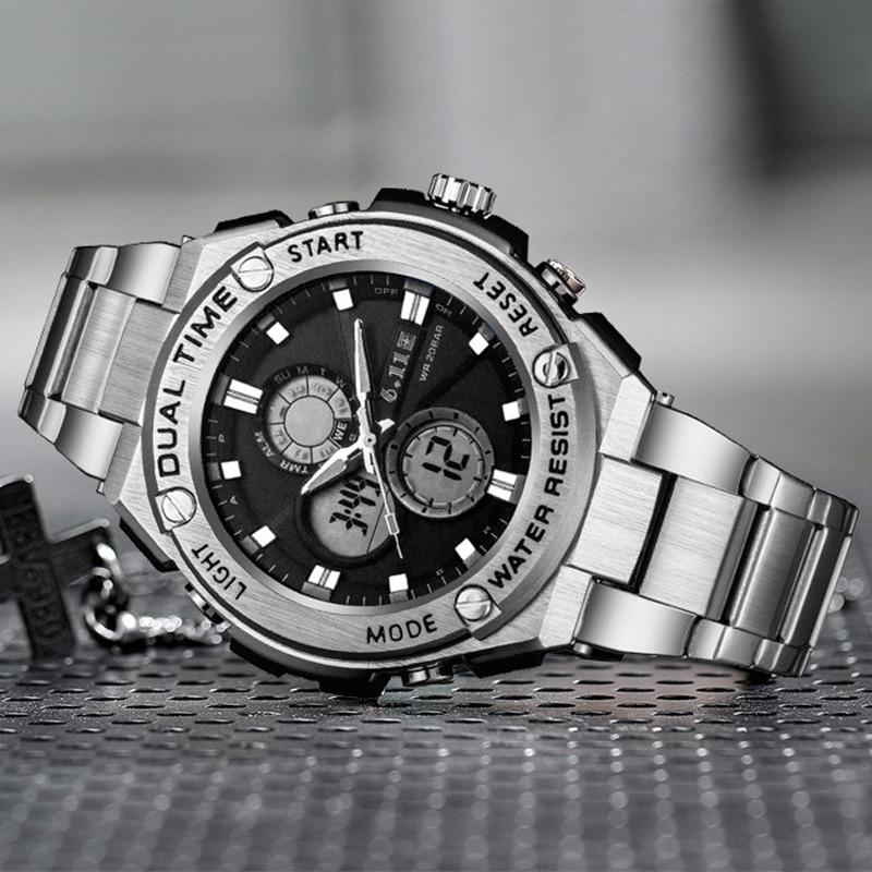 Reloj militar para hombre 2020, reloj deportivo de lujo del ejército, reloj de pulsera de cuarzo Digita de doble movimiento G Shock, Dropshipping Relogio Masculino