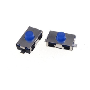100Pcs 3.8x6.0 Height 2.5MM Normal Closed NC Type Tact Switch Reflow Solder SMT / SMD Vertical PCB 250gf