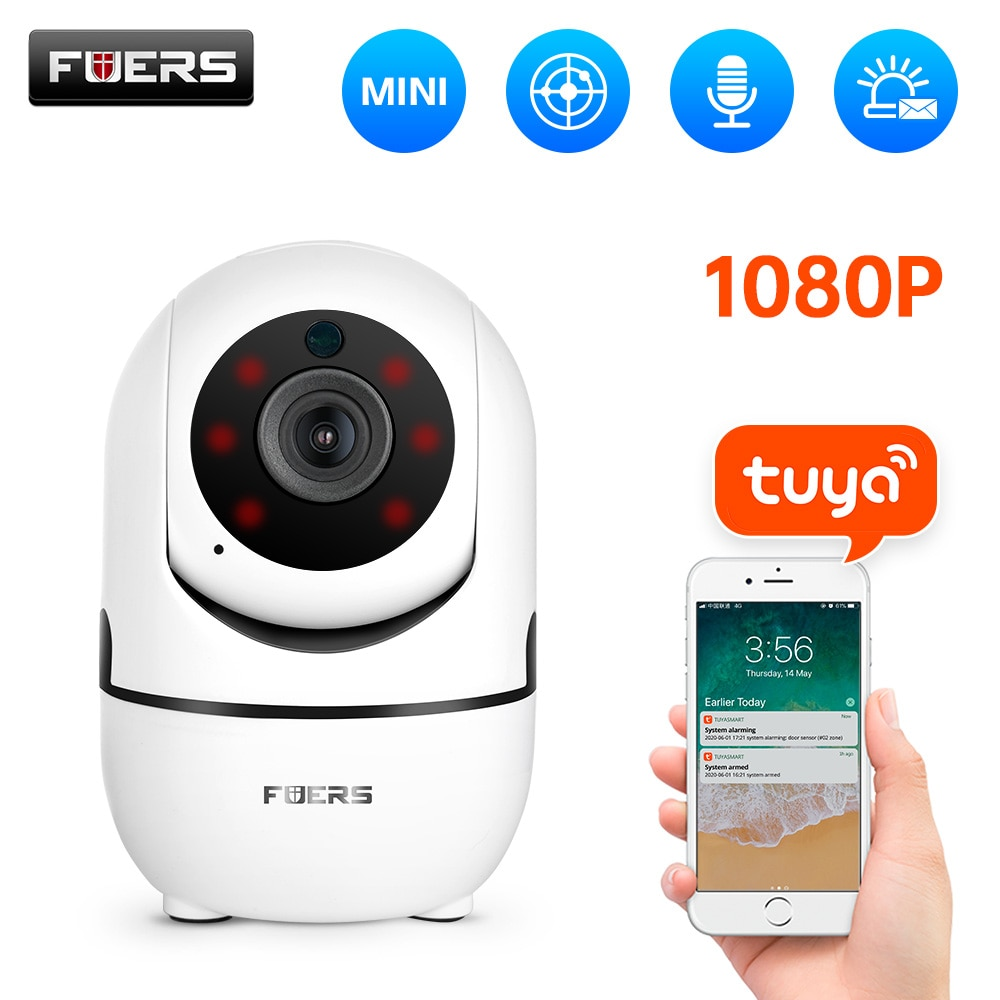 Fuers 1080P IP Camera Tuya APP Automatic tracking Home Security Indoor Camera Surveillance Wireless WiFi Camera Baby Monitor