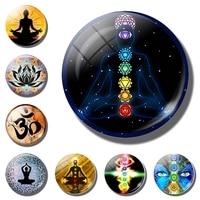Chakra Symbols fridge magnet. Chakra Symbols Sign refrigerator magnets. Chakra Symbols fridge sticker Magic Sign Zen Home Decor