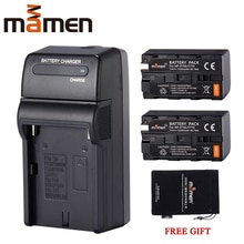 Mamen 5500mAh NP-F770 NP-F750 NP F770 np f750 NPF770 Digitale Batterie + Ladegerät Für Sony V30 TRV35 CCD-SC55 SC65 Batterien