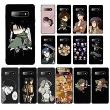 LVTLV Heißer Anime Angriff Auf Titan Levi Ackerman Telefon Fall für Samsung S5 6 7 rand 8 9 10 20 plus lite fall