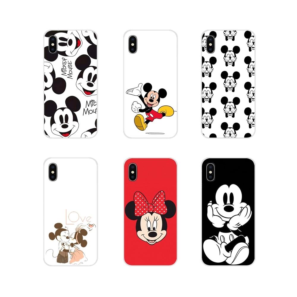 Mickey Mouse orejas para Sony Xperia XA1 XA2 XZ1 XZ2 Z1 Z2 Z3 compacto M2 M4 M5 C6 L2 Ultra Premium accesorios de la cáscara del teléfono cubre