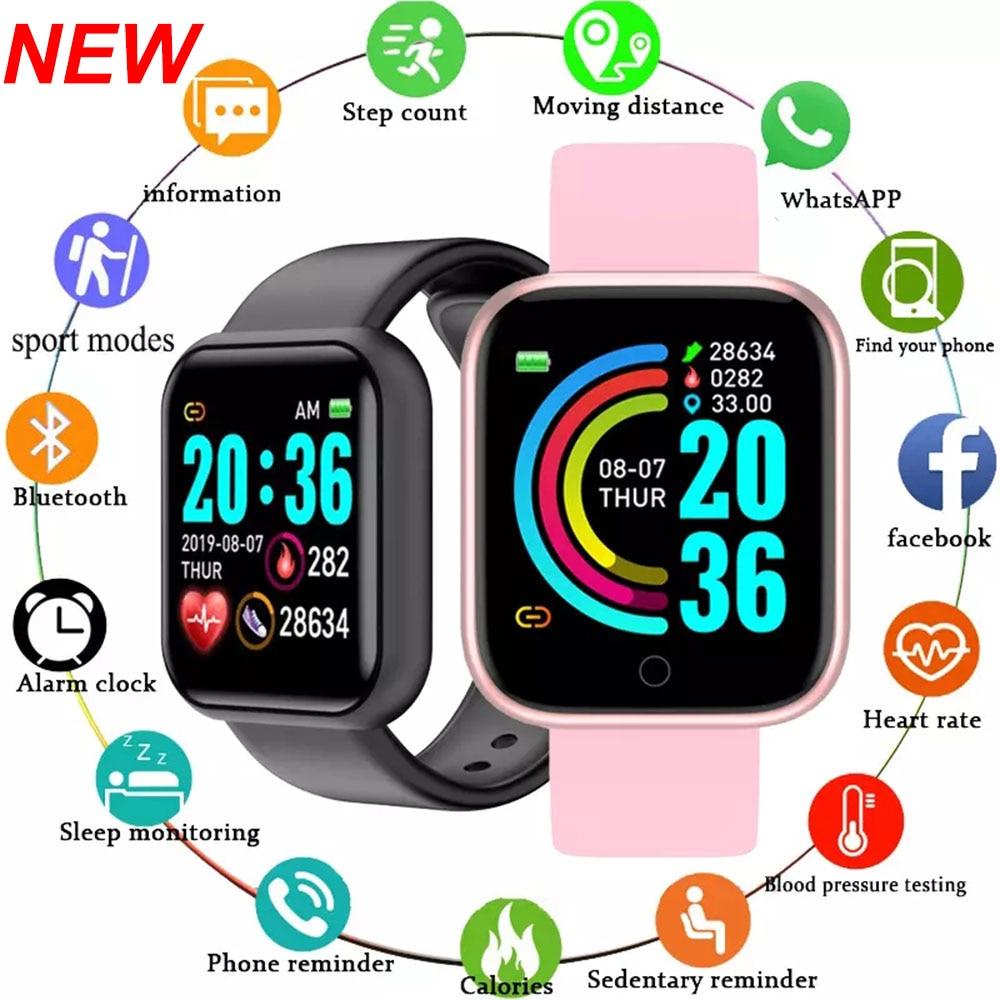 Y68 Smart Watch Men Wristwatches Smartwatch Electronic Clock Fitness Monitor Men Gift Reloj inteligente for Huawei Relogio SB001