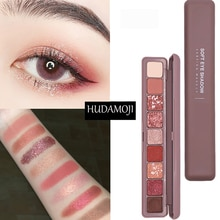 Nieuwe Mode Oogschaduw Palet 9 Kleuren Matte Eyeshadow Palette Glitter Oogschaduw Make-Up Naakt Beauty Make Up Set Cosmetica