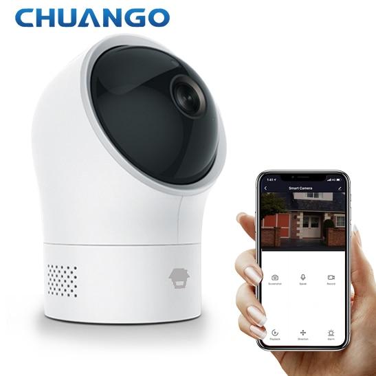 PT-300Q أمن الوطن الذكي واي فاي كاميرا الأصلي CHUANGO كاشف حركة كشف صرخة الطفل