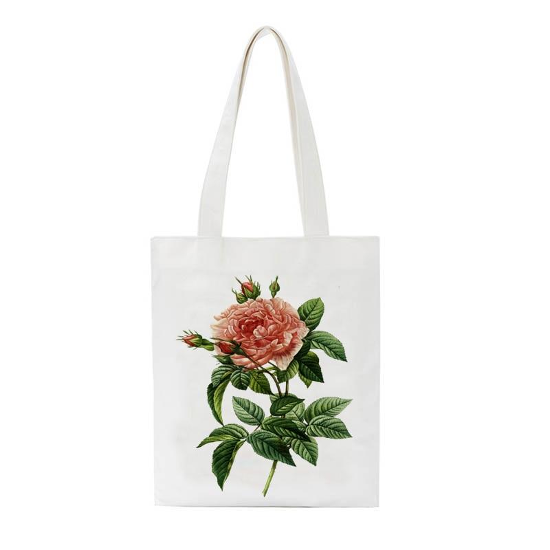 Happy Mother's Day Print Ladies Cloth Canvas Tote Bag Cotton Shopping Bag Women Folding Shoulder Shopper Bags Bolsas De Tela