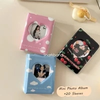 sharkbang cherryclouds mini photo album 20pcs double side sleeves storage card postcards photos collect book organizer