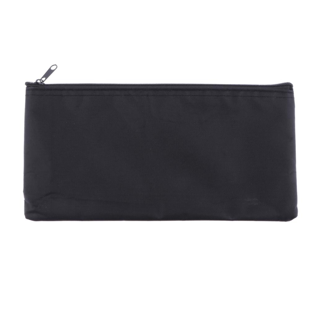 Mic Protective Bags Soft Storage Pouch Microphone Zipper Bag Black 22x11cm