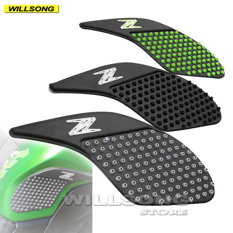 Silica Gel Anti Slip Sticker Tank Pad Side Knee Grip Protector For KAWASAKI Z250 2013-2015 Z300 2014-2017 Motorcycle Accessories