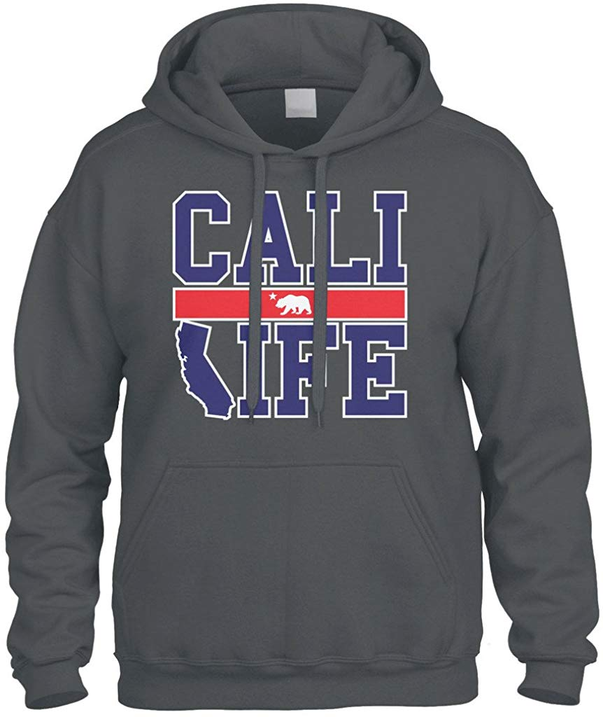 Sudadera con capucha para hombre y mujer de la República de California, oso, Cali, vida, estado, sudadera