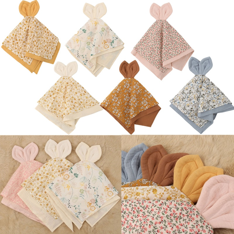 1Pc Baby Bibs Cartoon Bunny Soothe Appease Towel Burp Cloth Doll For Children Newborns Pacifier Cuddle
