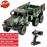 2 4g 116 4wd rc truck remote control off road military truck climbing off road military car with led lights rtr kid best gifts