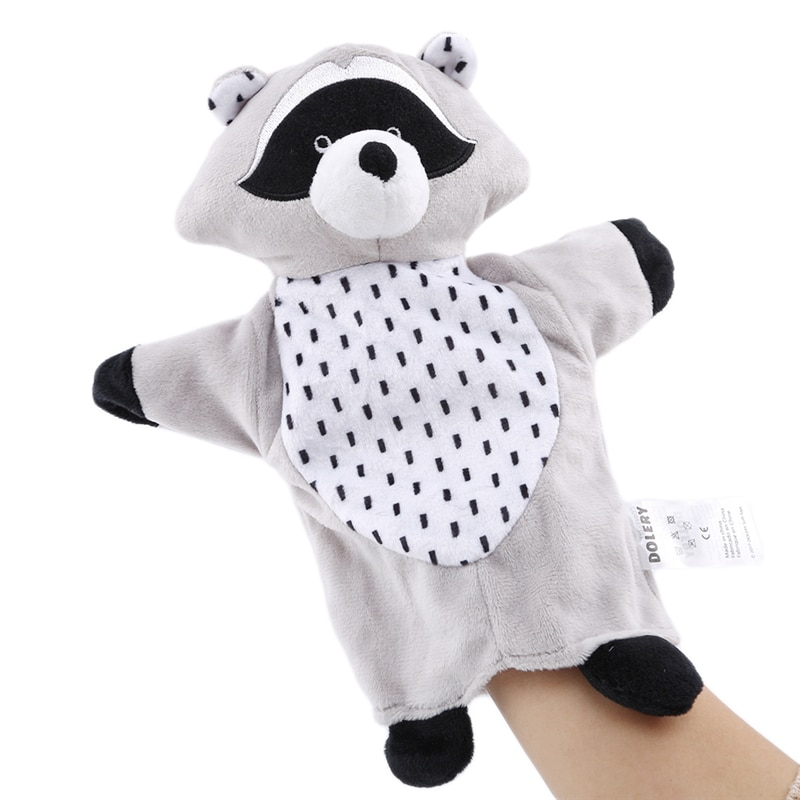 Soft Plush Toy Infant Cartoon Animal Koala Hand Puppet Childhood Parent-child Interaction Gloves Toy Baby Storytelling Props