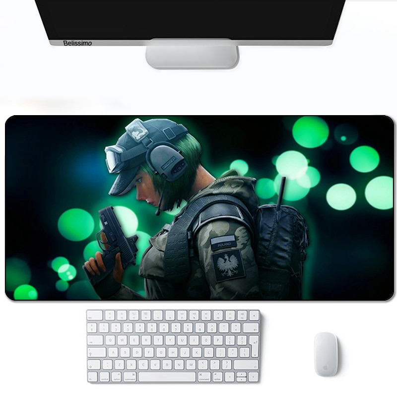 Rainbow six siege Mouse pad anime tapis de souris 900X400 large gaming accessories mousepad extension gaming keyboard mouse mat