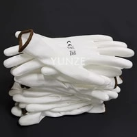 10 pairs pu nitrile safety coating work gloves palm coated gloves mechanic working gloves have ce certificated en388