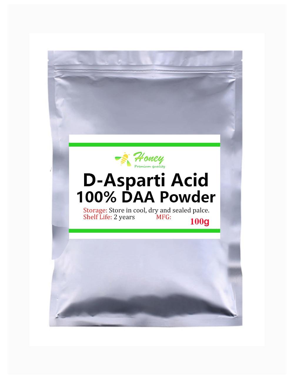 100% Best DAA D-Aspartic Acid Powder,Non GMO Exercise Supplement,Releasing Hormones Anti Fatigue Supplement,Popular In Athletes