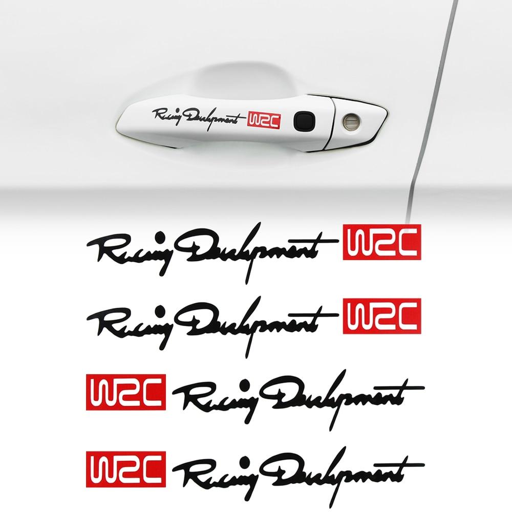 Manija de auto adhesivos WRC Rally raya de automovilismo pegatinas para Audi A3 8P 8V A4 B6 B7 B8 A6 C5 C6 C7 Q3 Q5 A5 A7 S3 S línea RS RS4 TT