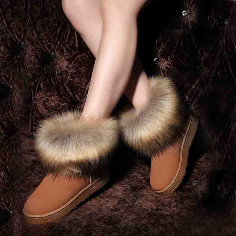 FEVRAL zapatos de mujer de marca Slip-On Retro tobillo plano bota elegante Inglaterra Casual botas cortas punta redonda invierno botas calientes para mujer