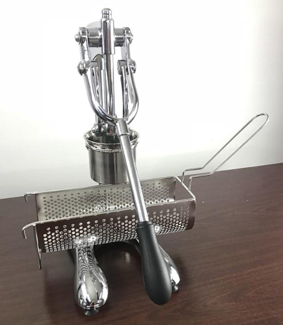 طويلة المقلية آلة الفولاذ المقاوم للصدأ 30 سنتيمتر المهروسة البطاطا البطاطس الطارد