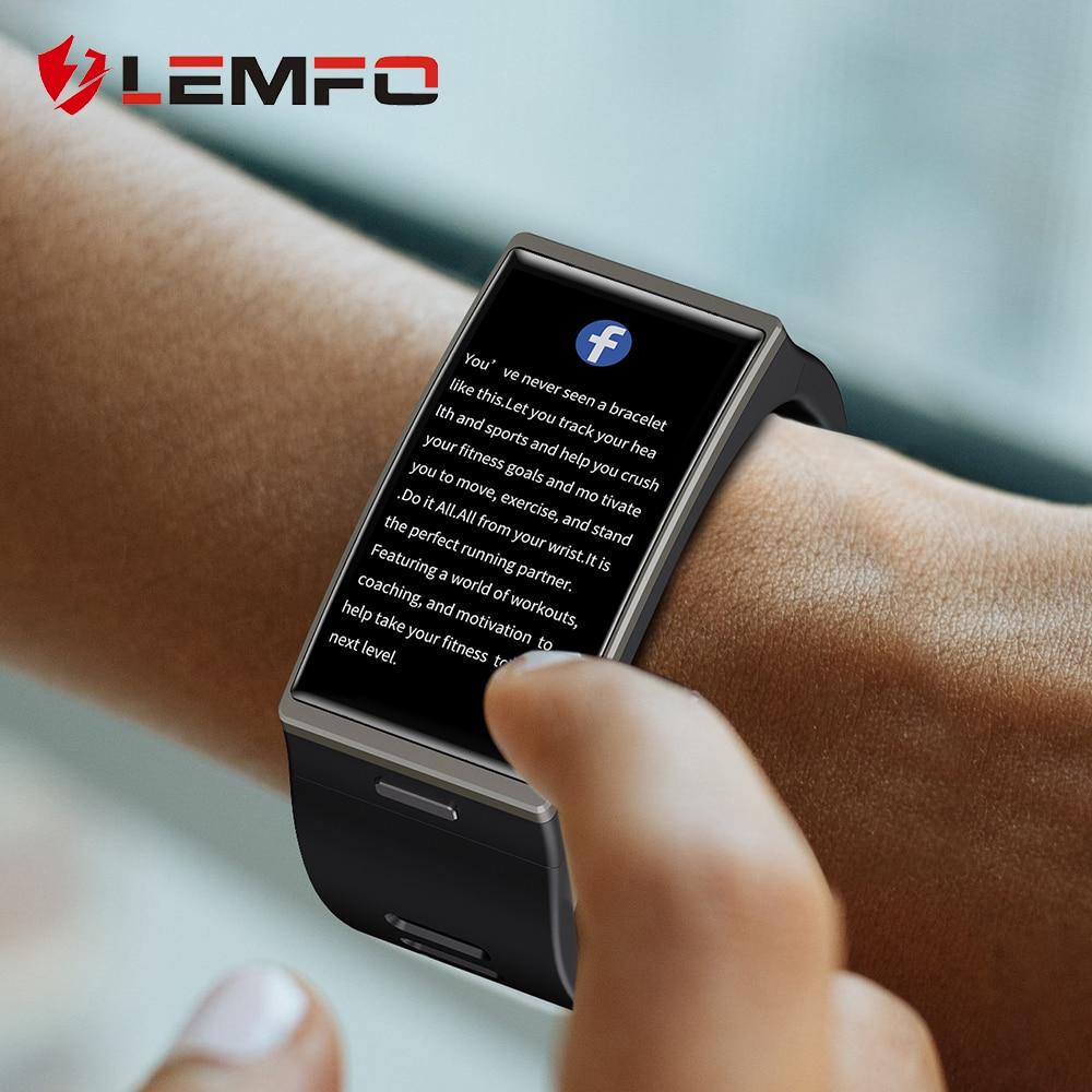 Smartwatch 2020 1.9 بوصة 170*320 شاشة LEMFO DM12 ساعة ذكية الرجال IP68 مقاوم للماء الرياضة معدل ضربات القلب ضغط الدم أندرويد IOS