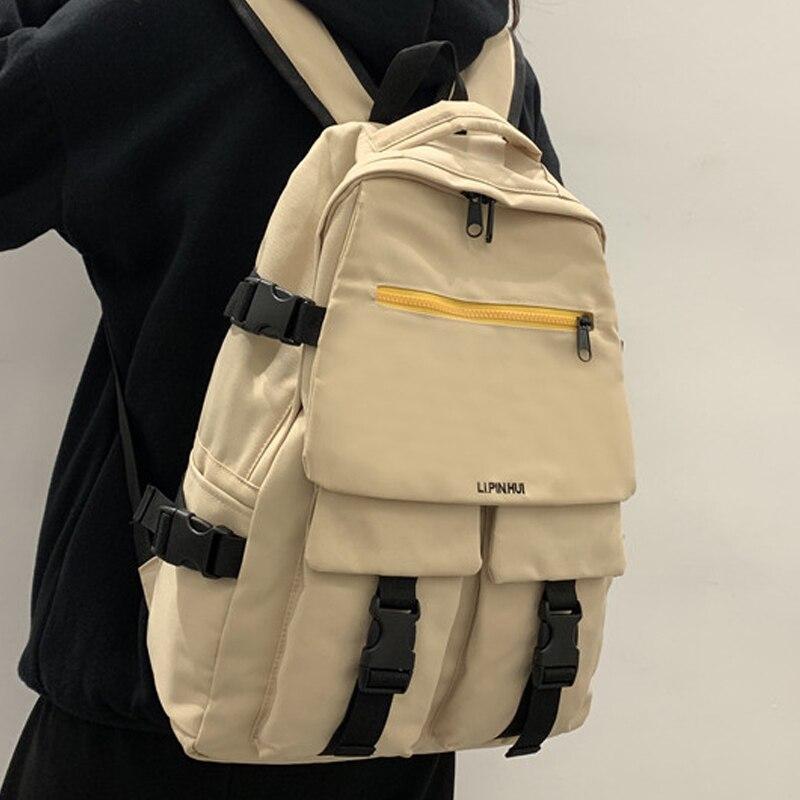 Mochila de nailon Enopella moderna y resistente al agua, mochila para mujer, mochila escolar para adolescentes, mochila para mujer, mochila