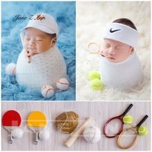 Jane Z Ann Baby photo shoot props sports little ornaments  newborn baseball table tennis basketball costume studio accessories