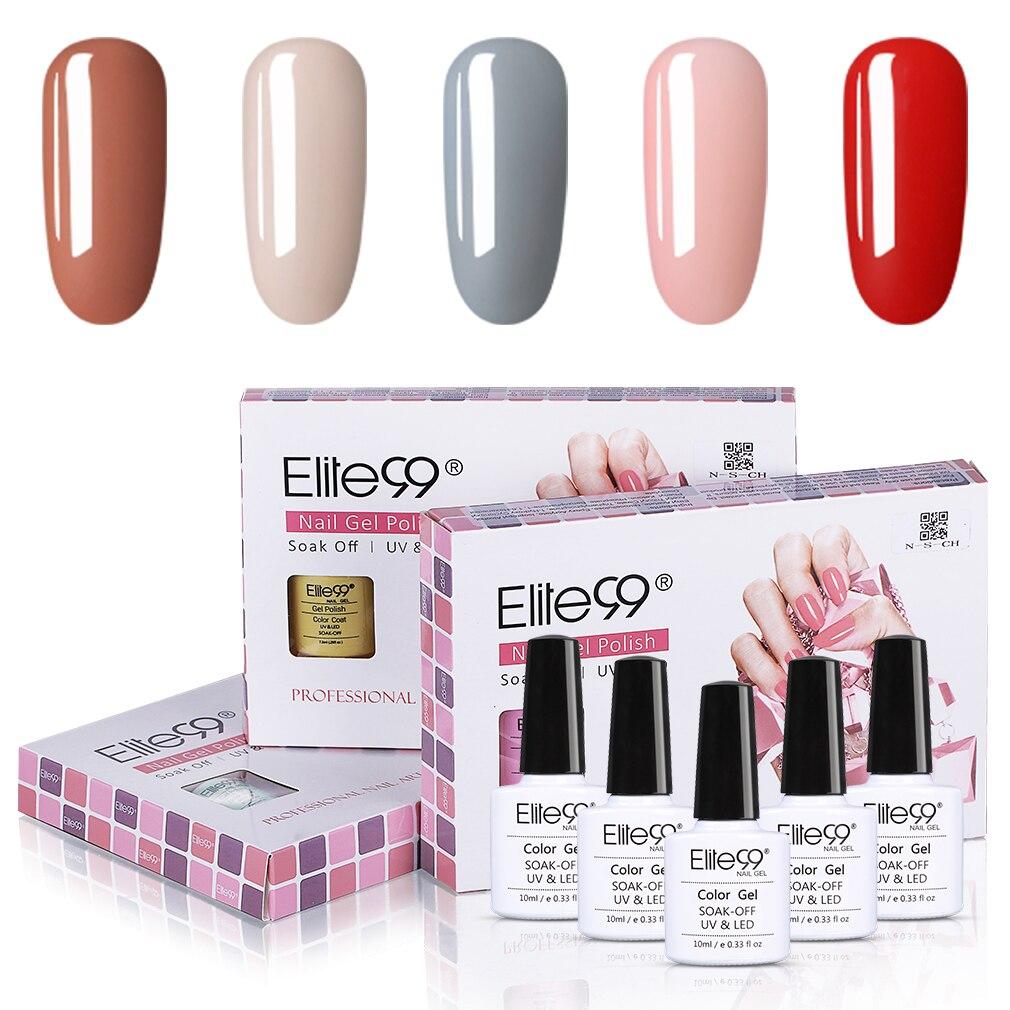5 шт./лот светильник Elite99, набор гель-лаков для ногтей, полуперманентный маникюрный лак с эмалью, набор гибридных лаков