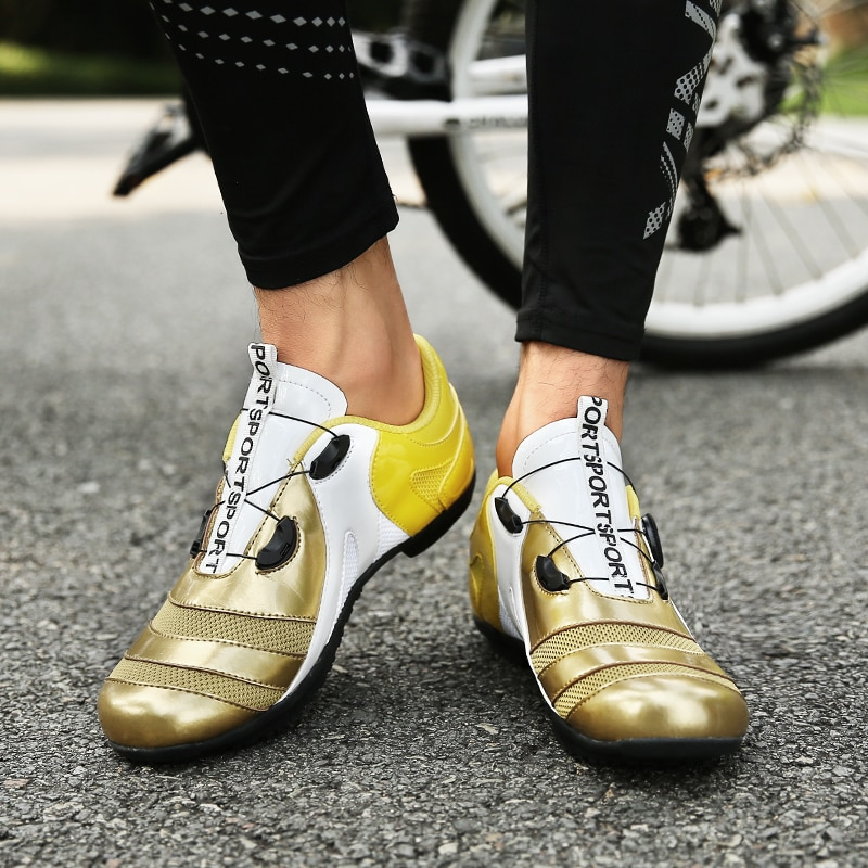 Non-locking Men Cycling Shoes Breathable Mtb Shoes Road Bike Bicycle Shoes Women Ultralight Athletic Racing Sneakers