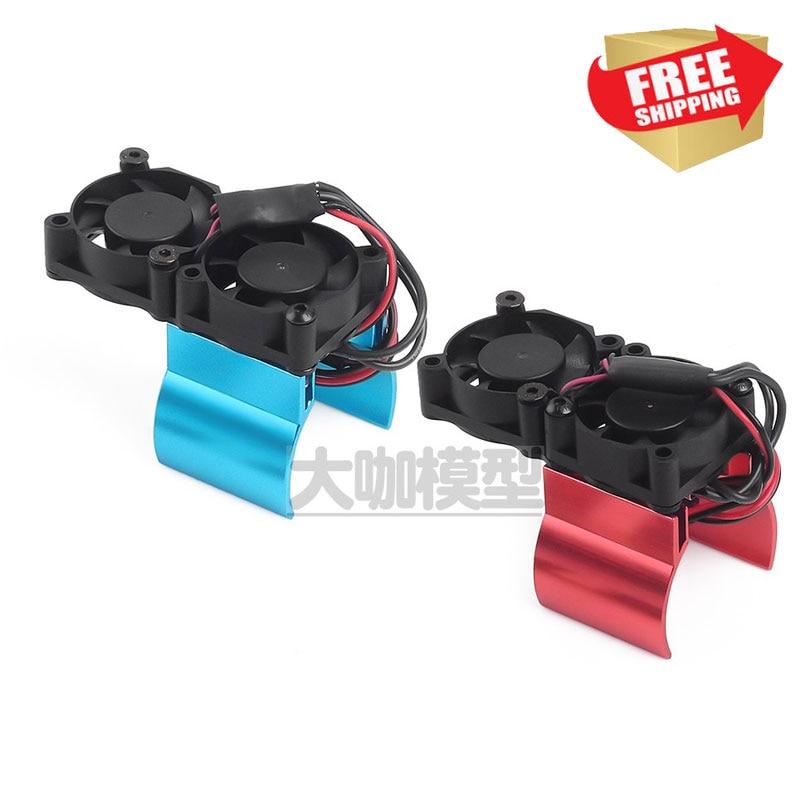 RC Parts 1/10 Temp sensored thermal heatsink Motor cooling fan Motor radiator for trax 82056-4 TRX4 SCX10 option upgrade
