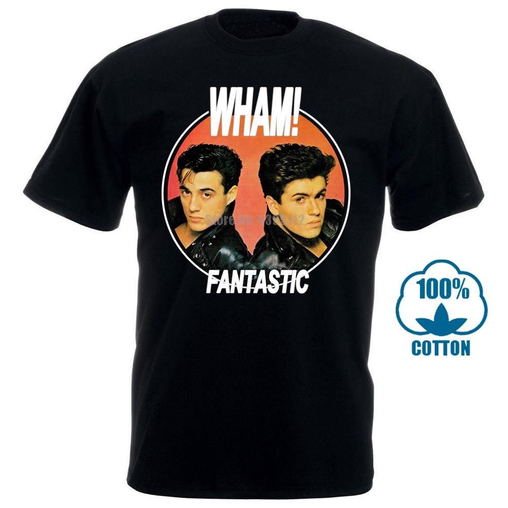 Wham t camisa fantástico 100% oficial eua importação 80pop s pop george michael