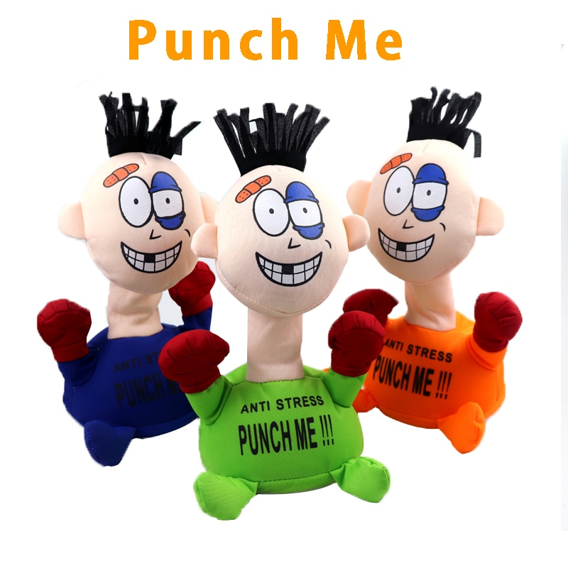 Funny Children Boxing Toys Punch Me Electric Plush figure Girl Novelty Screaming Doll With Simulation Sound Gifts Popular enlarge