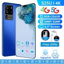 Hot Sale S25U Global Version 6.3 Inch Screen 4800mAh Battery 8GB 256GB 16MP 32MP Camera Face ID Andr
