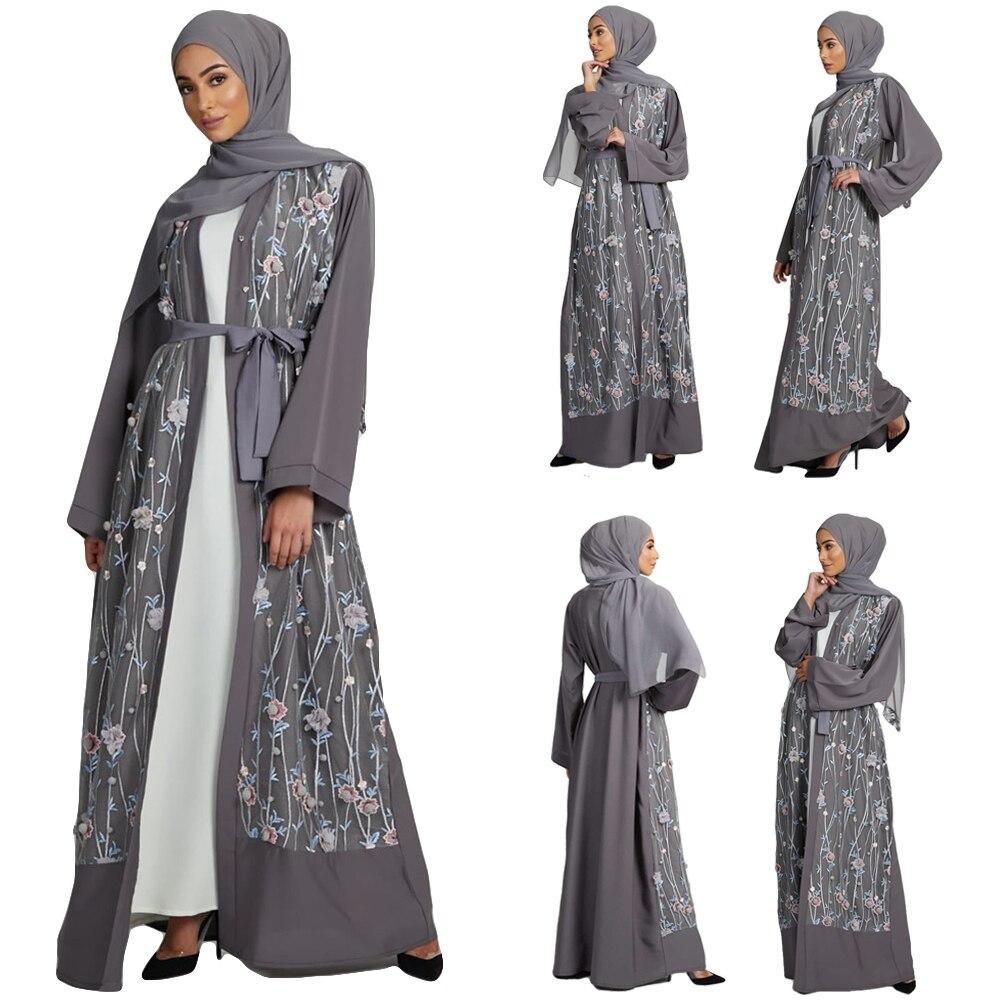 عباية-فستان طويل مطرز للنساء المسلمات ، زي إسلامي ، كيمونو مفتوح ، ماكسي ، تركي ، الشرق الأوسط ، دبي ، فستان سهرة أنيق ، مجموعة جديدة