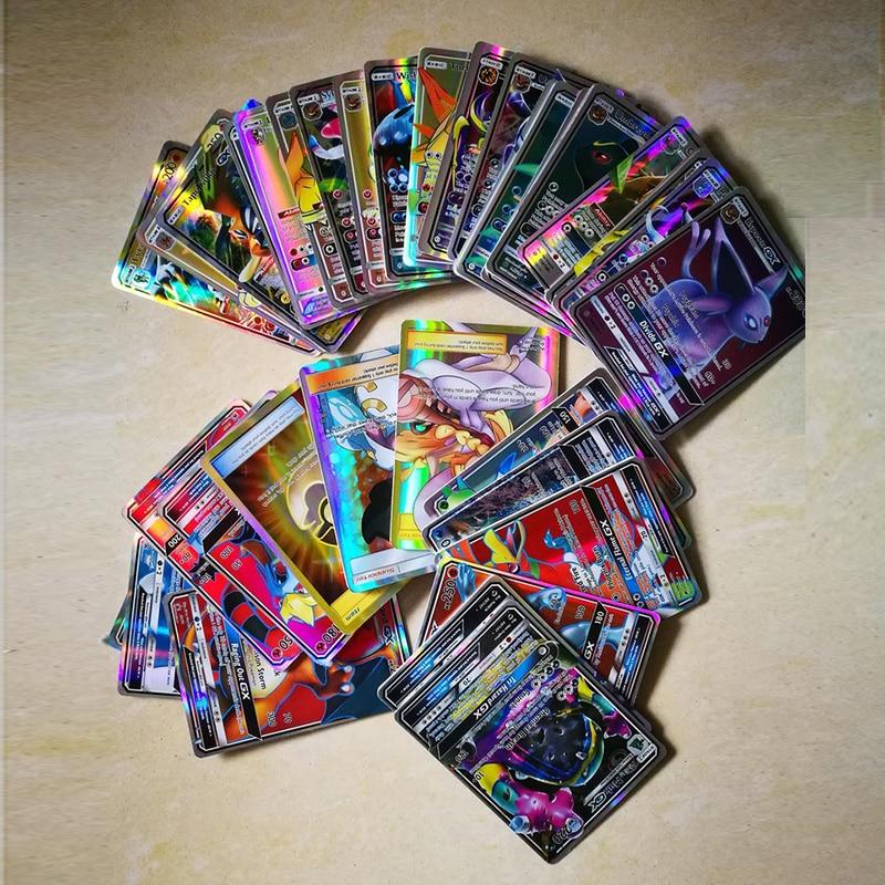 TAKARA TOMY Pokemon GX Shining Cards Game Battle Carte No repeat Trading Cards Game Children Toy 60Pcs 100Pcs 200 Pcs