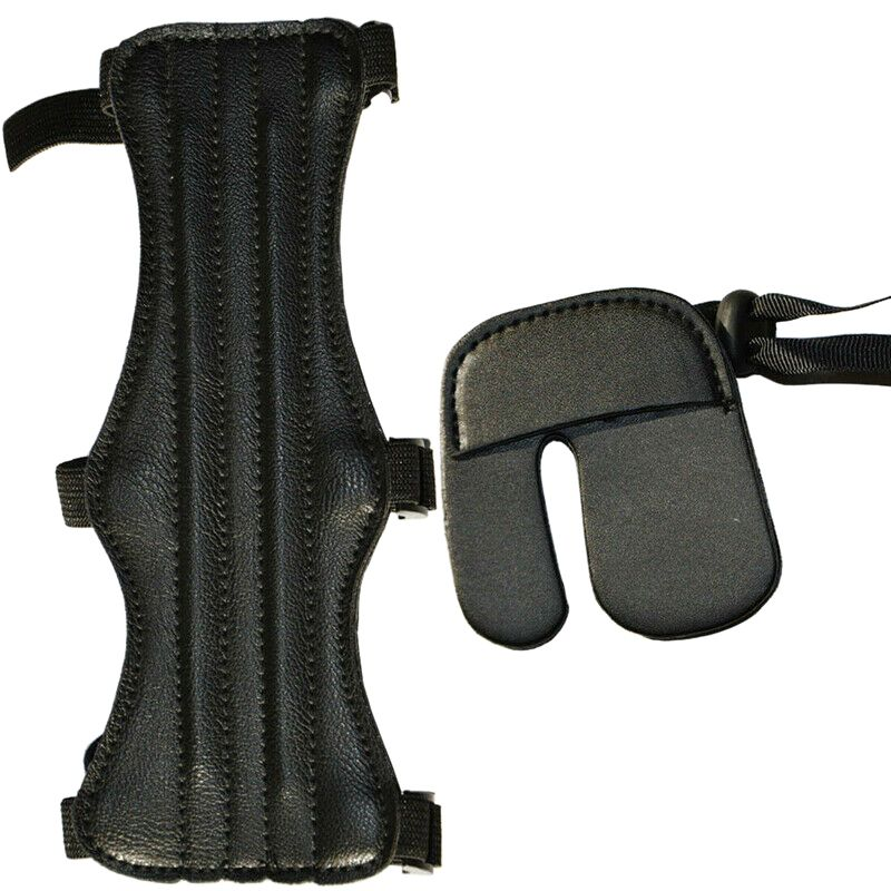 Protector de cuero duradero, Protector de brazo para dedo, Protector de arquería, accesorios de manga de engranaje, accesorios para exteriores